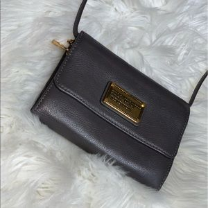 Grey over flap small bag